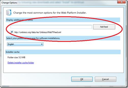 Umbraco Web Platform Installer Feed with Umbraco 4 5 2